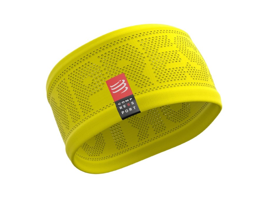 CompresSport HeadBand On/Off  Yellow