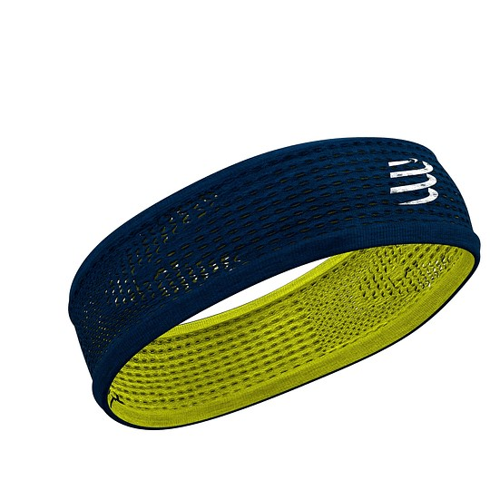 CompresSport HeadBand On/Off  Blue/Lime