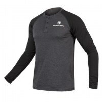 Endura One Clan Henley Raglan L/S large Dark Grey