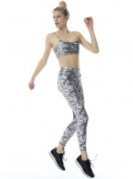 Baya Sporty Skin PowerPrint Set Long  Black/White