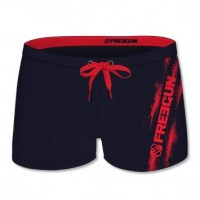Freegun Swimming Suit Short with Logo small red