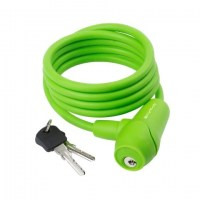 M-Wave Cable Lock Silicone 8x1500mm  green