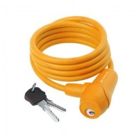M-Wave Cable Lock Silicone 8x1500mm  orange
