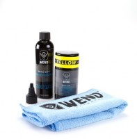 Wend Chain Kit:1xCleaner 120ml|1xWax-80ml|1xMicroFiber Towel  yellow