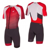 Z3R0D Racer TT Suit Man  Grey/Red