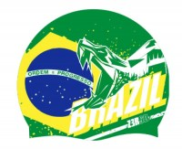 Z3R0D National Pride Swim Cap  Brazil