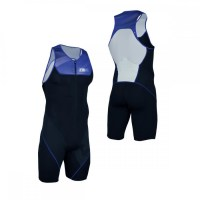 Z3R0D Start Trisuit Man Front Zip  blue