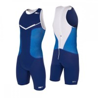 Z3R0D Racer Trisuit Man  Dark Blue/White