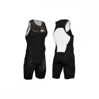 Z3R0D Start Trisuit Man Front Zip  charcoal black