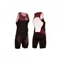 Z3R0D Start Trisuit Man Front Zip  deep burgundy