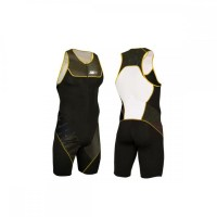 Z3R0D Start Trisuit Man Front Zip  persimmon